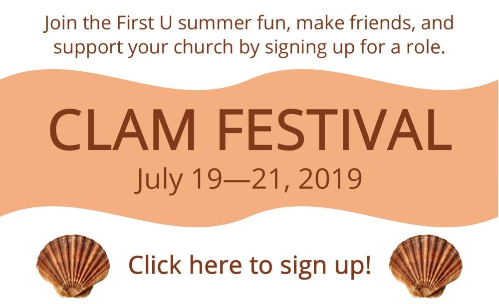 Clam Fest 2019 Website Banner